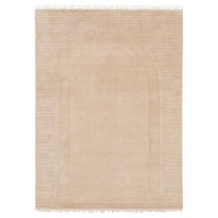 Archival Lines Customizable Athena Weave Rug in Biscuit Small