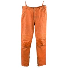 Archive HELMUT LANG Fall Winter 1999 space pants come in distressed orange leath