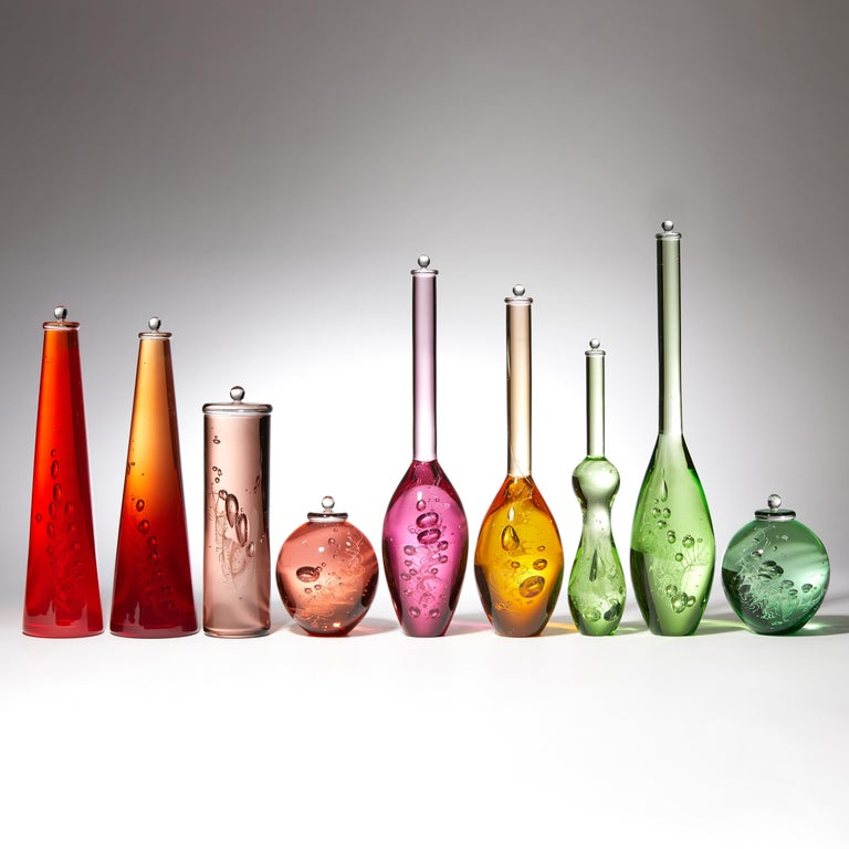 British Archive of DNA Specimen, a Multicolored Glass Installation by Louis Thompson For Sale