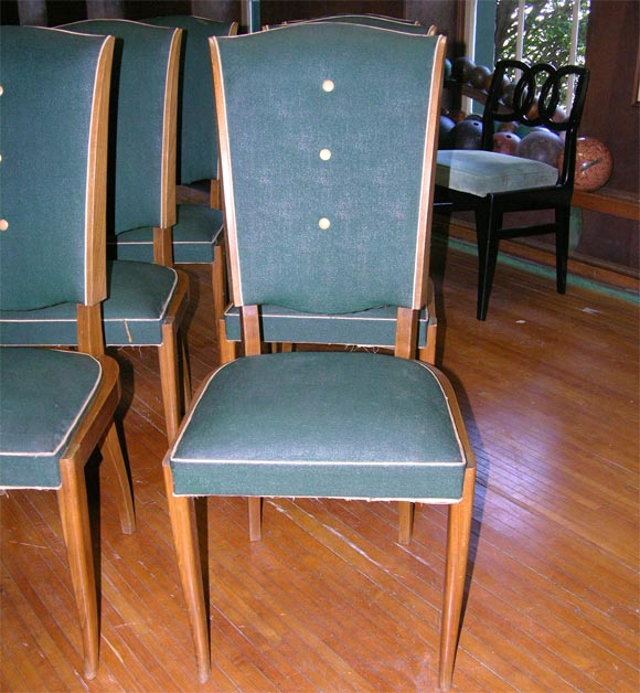 Set of Six French 1940s Chairs For Sale 1