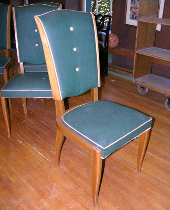 Set of Six French 1940s Chairs For Sale 2