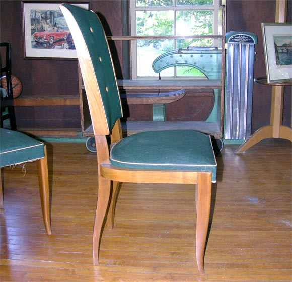 Set of Six French 1940s Chairs For Sale 3