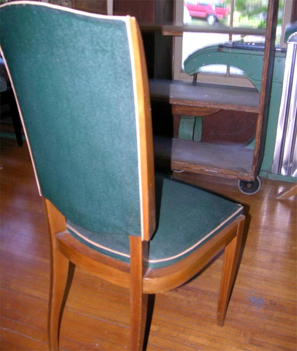 Set of Six French 1940s Chairs For Sale 4