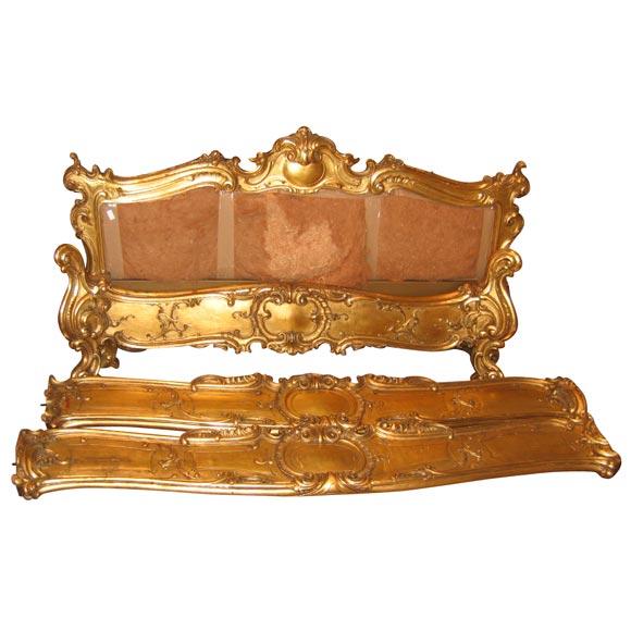 Beautiful Italian Renaissance Style Gilt Wood Bed At 1stdibs