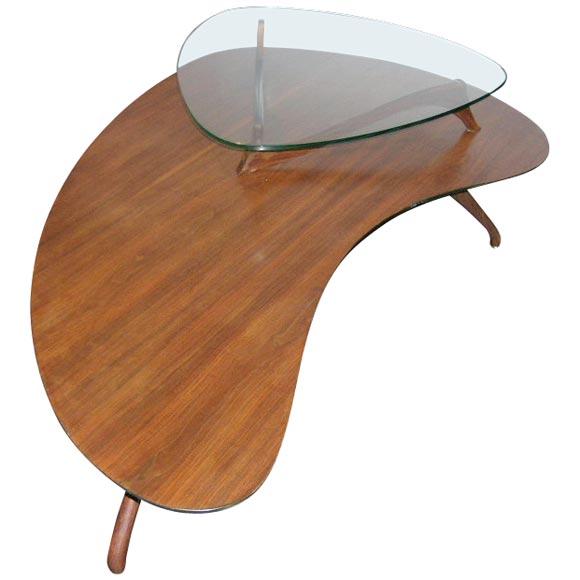 Marble Kidney Coffee Table: Vladimr Kagan Kidney Shaped 2 Tier Table. At 1stdibs
