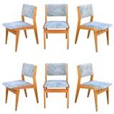 Six 1950 Ash Chairs