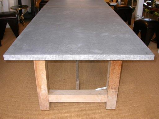 Bluestone Top Dining Table With Teak Block Base At 1stdibs