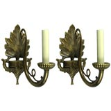Pair Brunelli Design Scrolled Sconces