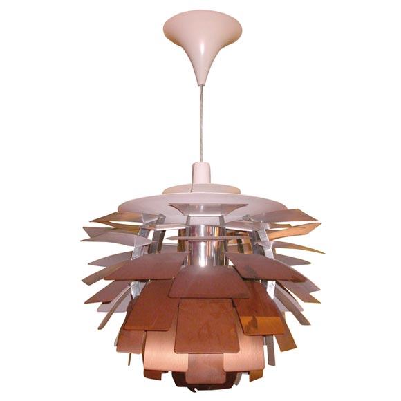 poul henningsen copper artichoke lamp at 1stdibs. Black Bedroom Furniture Sets. Home Design Ideas