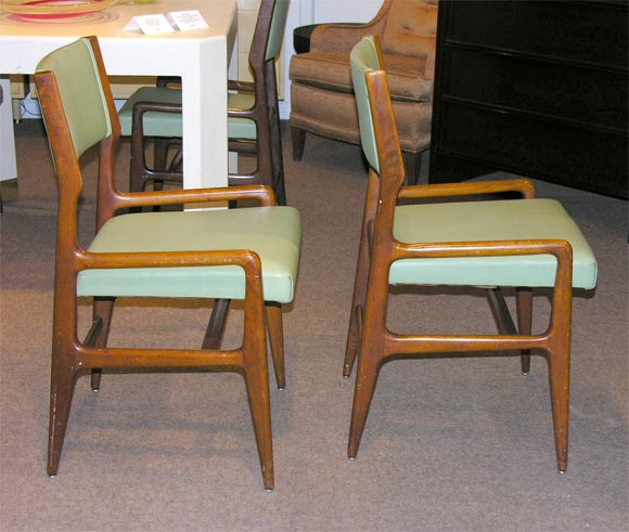 Set of 4 chairs designed by gio ponti for m singer and for Singer dining room set