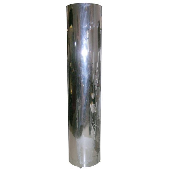 1970's Chrome Cylinder Floor Lamp at 1stdibs