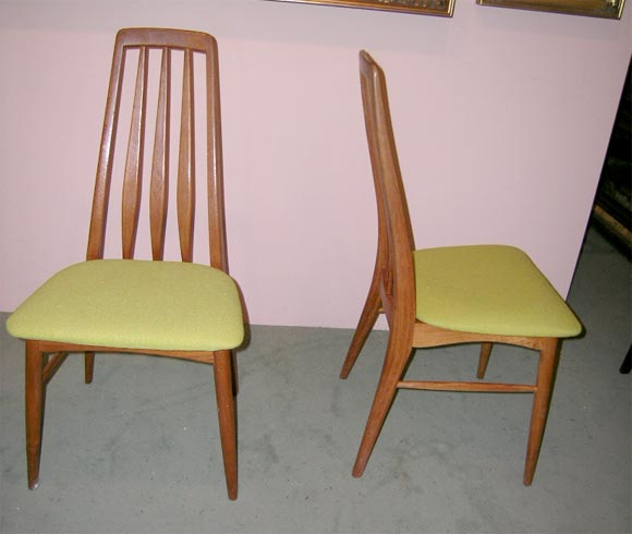 Set Of Four Danish Modern Teak Dining Room Chairs 2