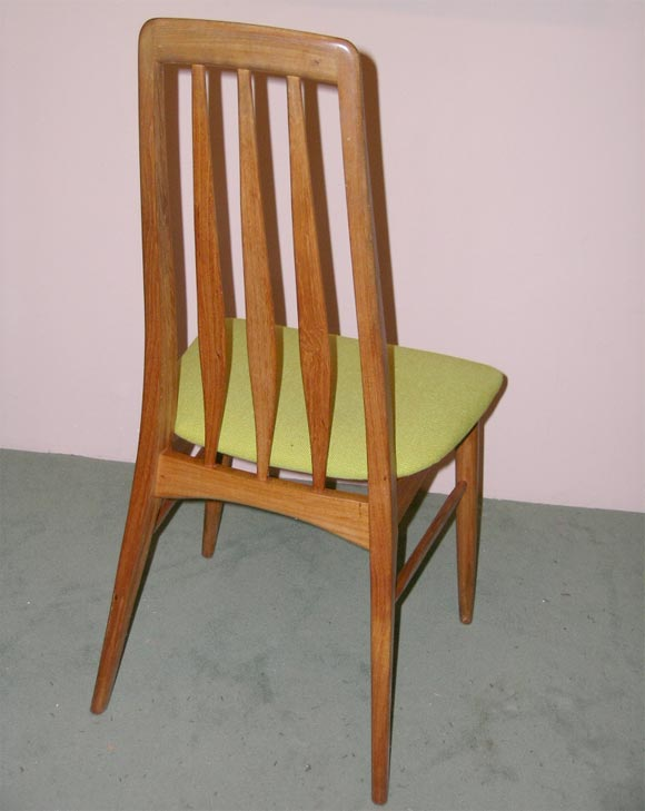 set of four danish modern teak dining room chairs for sale