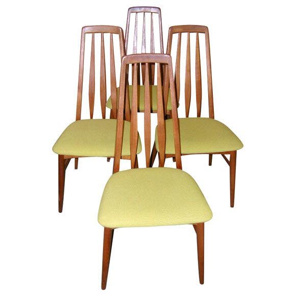 Scandinavian Dining Room Chairs: Set Of Four Danish Modern Teak Dining Room Chairs For Sale
