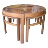 Glass Topped Nested Coffee Table