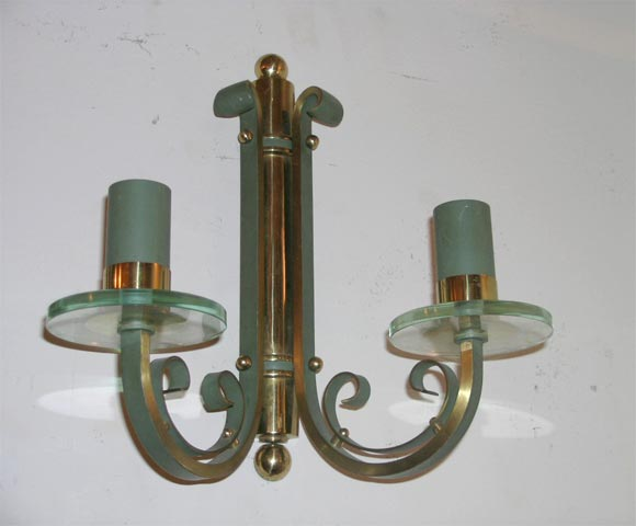 Pair of French Art Deco Wall Sconces In Good Condition For Sale In Bridgewater, CT