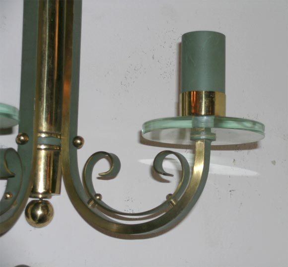 20th Century Pair of French Art Deco Wall Sconces For Sale