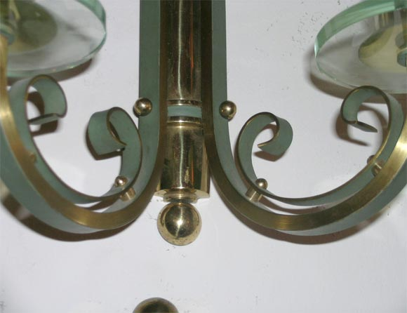 Pair of French Art Deco Wall Sconces For Sale 1