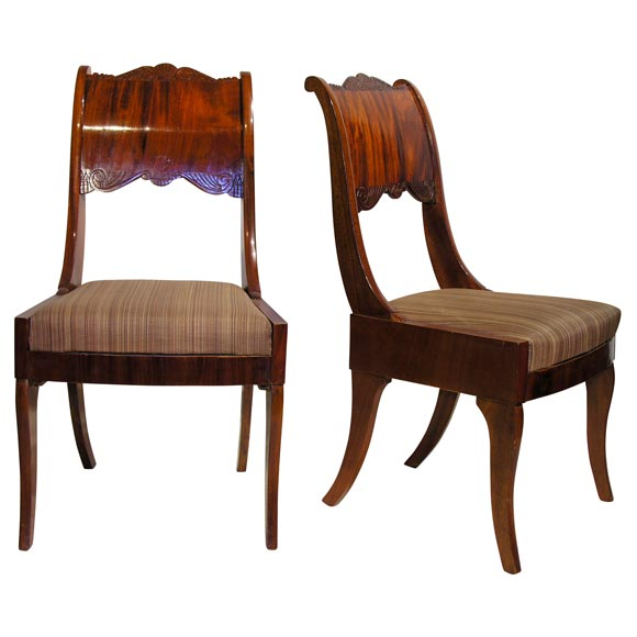 Set Of Eight 19th Century Russian Neoclassic Chairs At 1stdibs