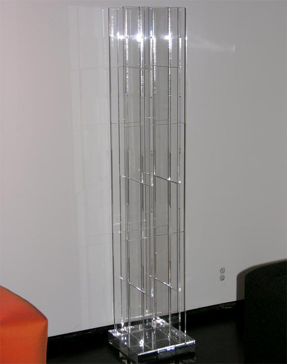 Modular Interlocking Lucite Floor Lamp 2