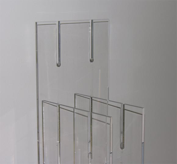 Modular Interlocking Lucite Floor Lamp 7