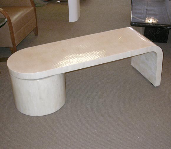 Karl Springer Bone Inlay Rotating Coffee Table At 1stdibs