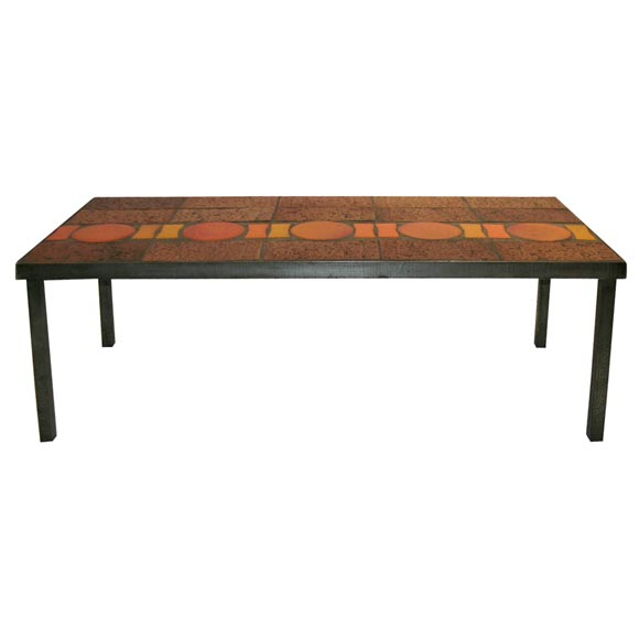 Ceramic Tile Coffee Table At 1stdibs