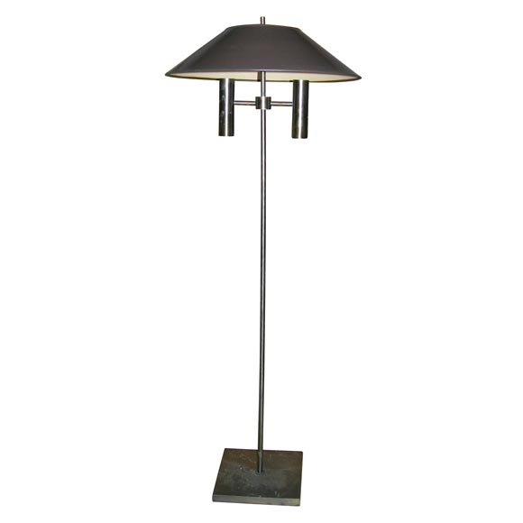 Bronze Patinated Floor Lamp by Kovacs