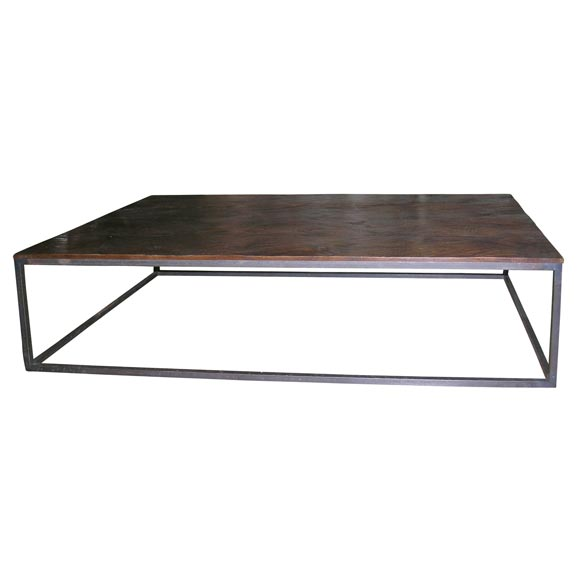 Wood And Iron Coffee Table At 1stdibs