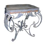 Pair of Continental Baroque Wrought Iron Planters