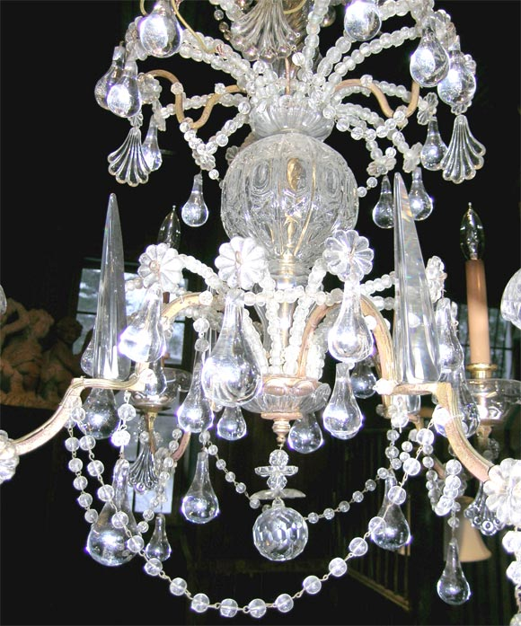 French Crystal Chandelier For Sale 1