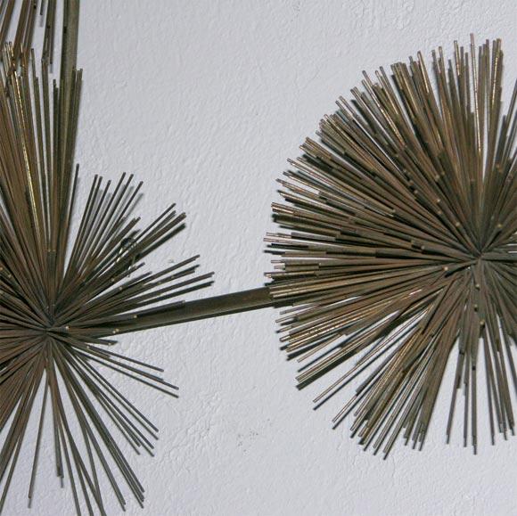 Metal Urchin Wall Decor : Metal quot sea urchin wall sculpture by jere at stdibs