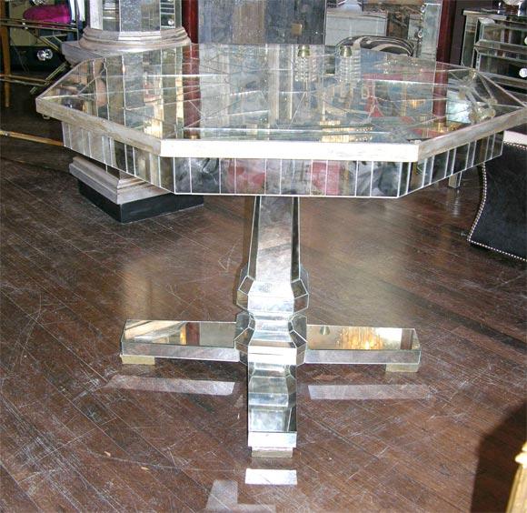 Custom Mirrored Center Hall Table 2
