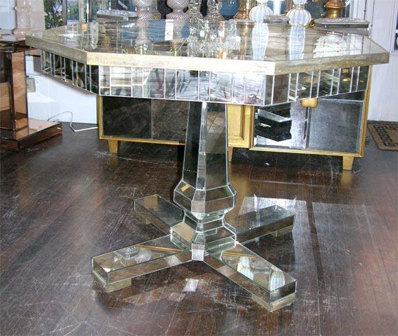 Custom Mirrored Center Hall Table 3