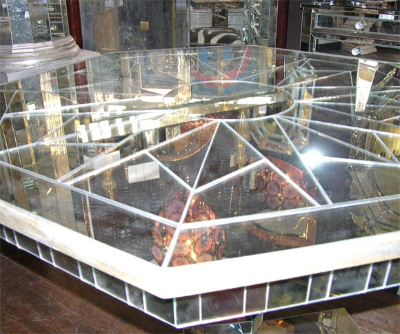 Custom Mirrored Center Hall Table 6