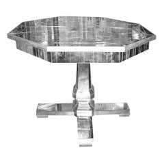 Custom Mirrored Center Hall Table