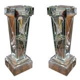 Pair of Custom Mirrored Columns/pedestals