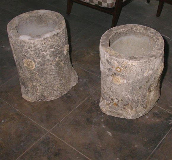 cement faux bois jardiniere at 1stdibs. Black Bedroom Furniture Sets. Home Design Ideas