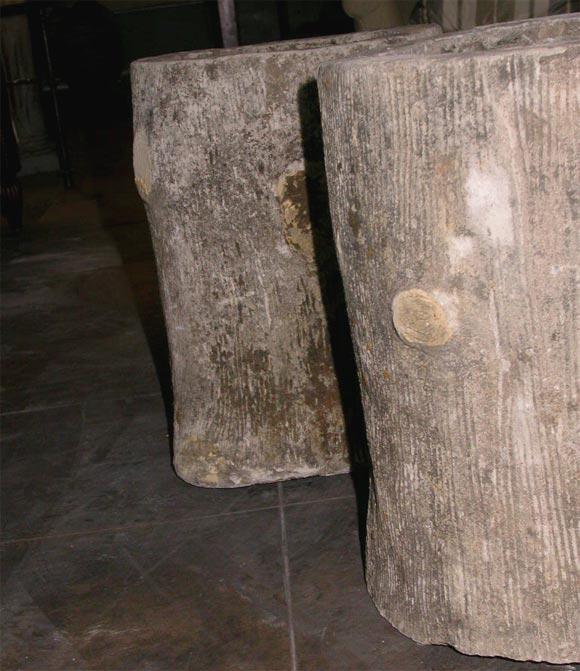 Faux Bois Cement : Cement faux bois jardiniere at stdibs