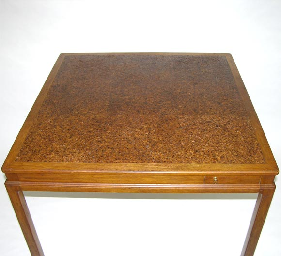 cork top game tableedward wormley for dunbar for sale at 1stdibs