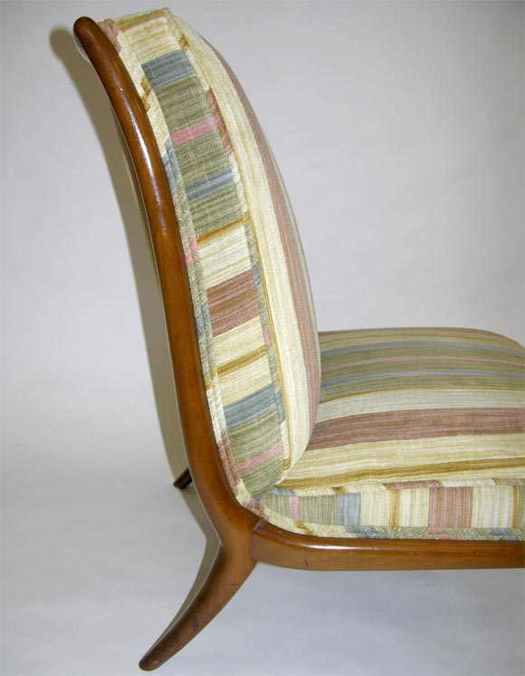 American Pair of Slipper Chairs by T.H. Robsjohn-Gibbings for Widdicomb For Sale