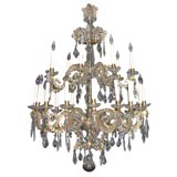 Rococo Gilt Bronze and Cut Glass Twenty-Four-Light Chandelier