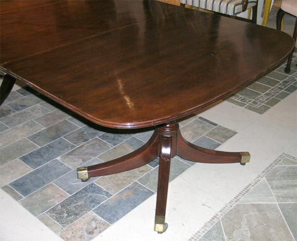 Regency Mahogany Double Pedestal Dining Table At 1stdibs