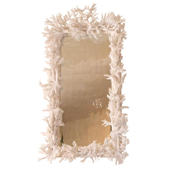 Rare White Coral Mirror At 1stdibs