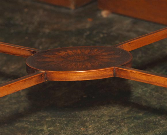 19th Century French Satinwood Oval Table In Excellent Condition For Sale In San Francisco, CA