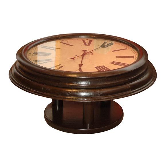 Clock Coffee Table At 1stdibs: coffee table with clock