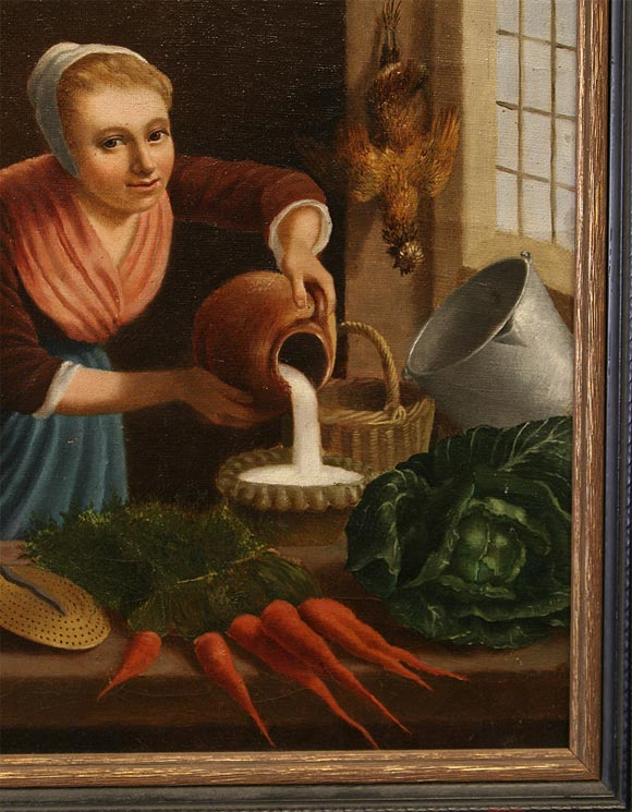 Northern Renaissance 19th Century Flemish School Oil Painting For Sale