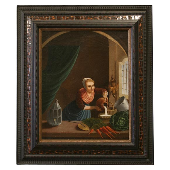 19th Century Flemish School Oil Painting For Sale