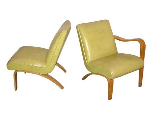 Pair of Retro Thonet Lounge Chairs