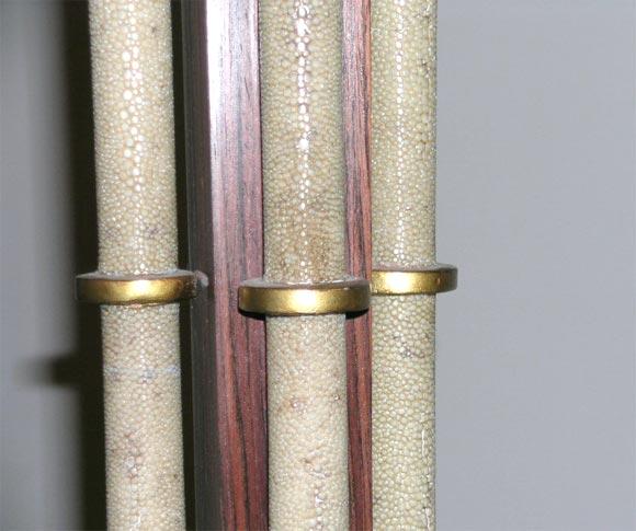 Shagreen, Rosewood and Gilt Metal, Art Deco Floor Lamp For Sale 1